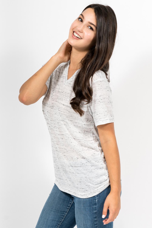 Custom Bella + Canvas 3005 t-shirt side