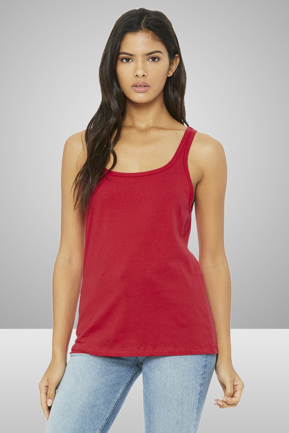 Bella+Canvas Ladies' Relaxed Jersey Tank    $10.23 each for 25 items one color front or back
