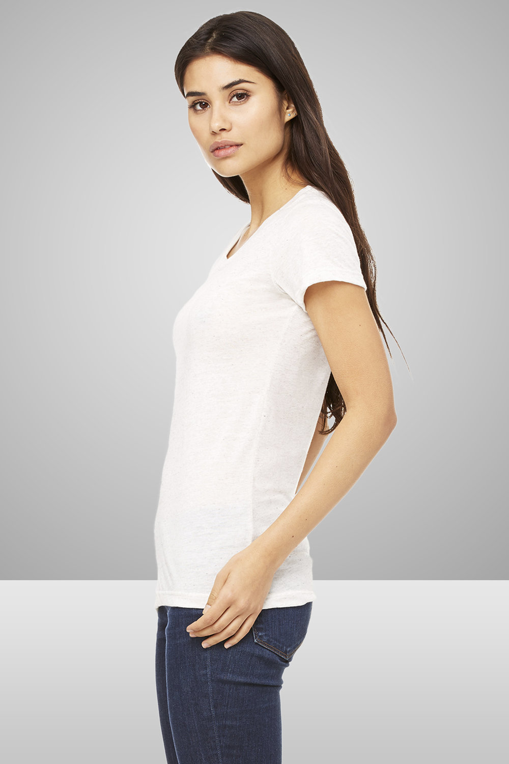 Bella+Canvas Ladies' Triblend Short-Sleeve T-Shirt    $12.09 each for 25 items one color front or back