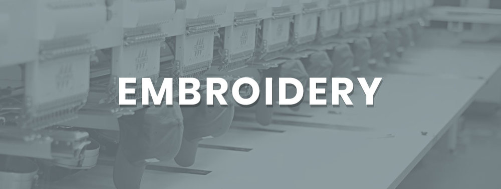 High end quality with hundreds of different color threads. Our embroidery team can embroider almost any design, on any merchandise, and can always match your business or organization's colors!