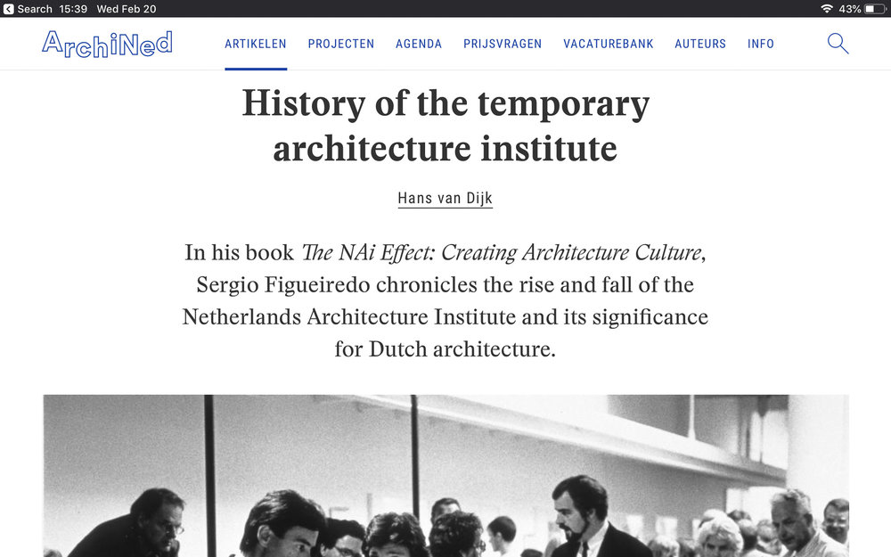 The History of a Temporary architecture institute - book review archined