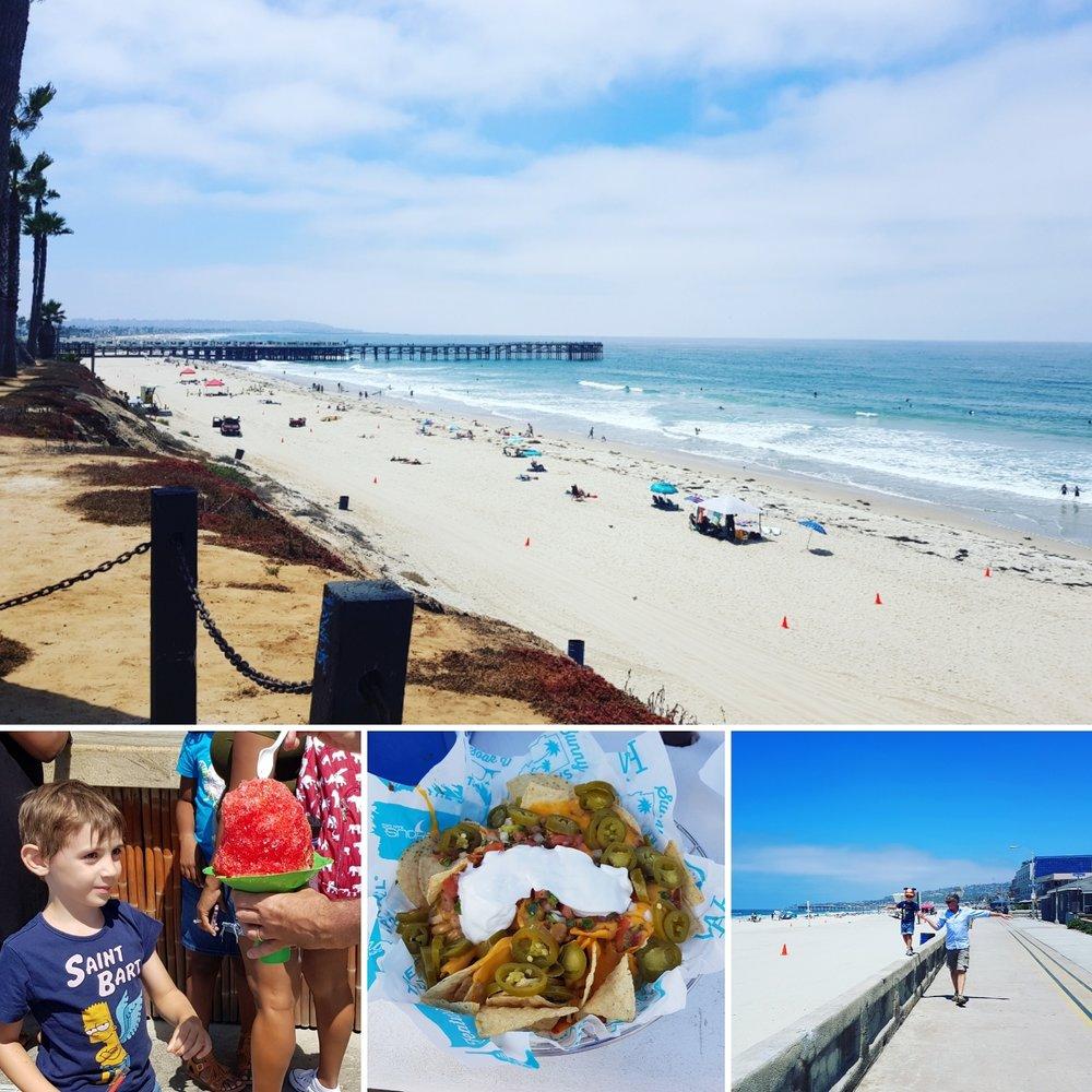 Pacific Beach - la granita mega - tacos -la pista ciclabile di San Diego a Mission Beach