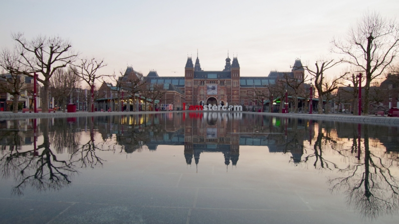 The IAmsterdam letters before they were removed from the museumsquare in Amsterdam today.  Photo: Wijnand Boon