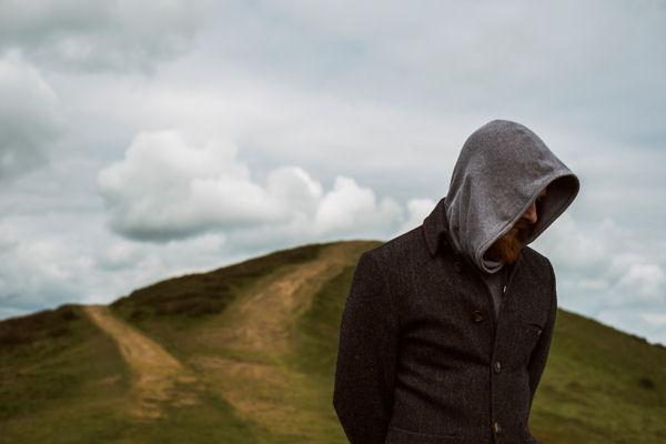 Robin Berry as 'Will' on the Malvern Hills. Photo credit: Matt Hass