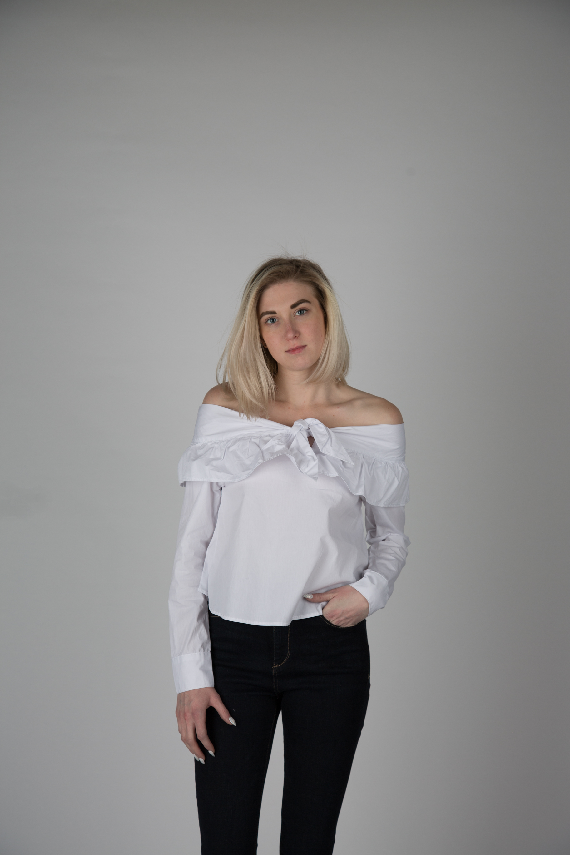 f44eac62ec71f7 Fifth Label White Off the Shoulder Top — KIN Boutique