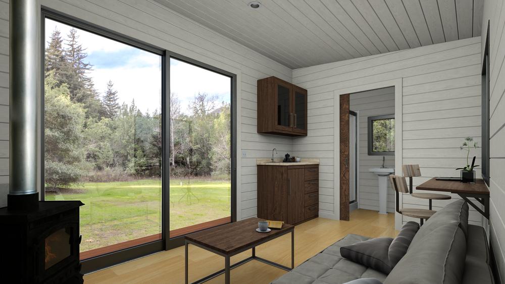 Cubist Cabin Interior