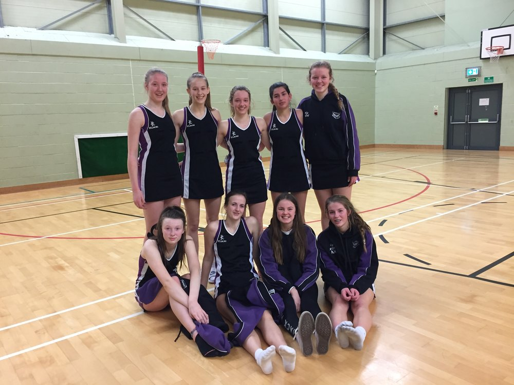 Back row from left to right: Katie Fisher, Olivia Treacy, Chloe Duncan, Maria  Maier, Kate Godsmark  Front row left to right: Charlotte Jennings-Evans, Emilie Secker, Izzy Merrick ( injured) and Amy McArthur (POM).