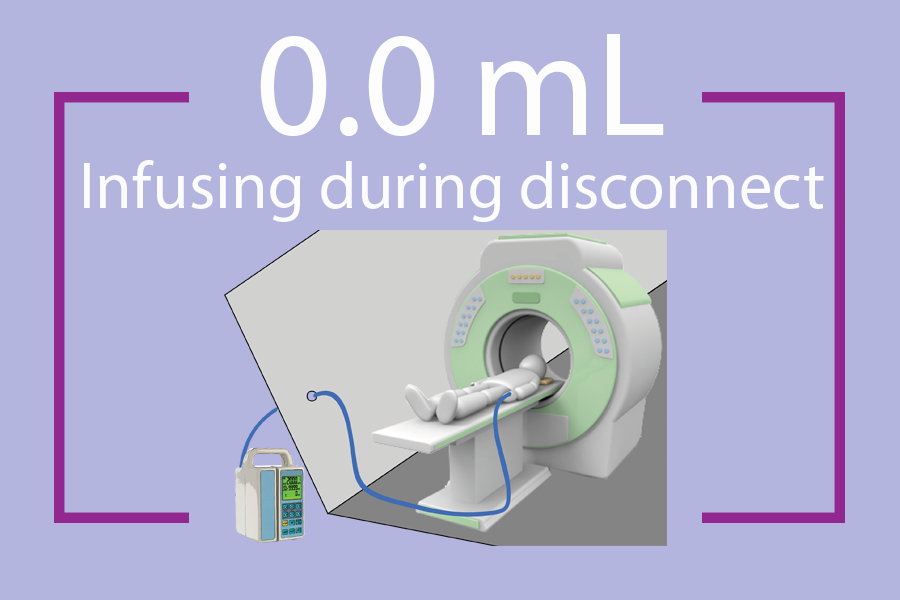 - Example of patient being tethered through a MRI wave guide