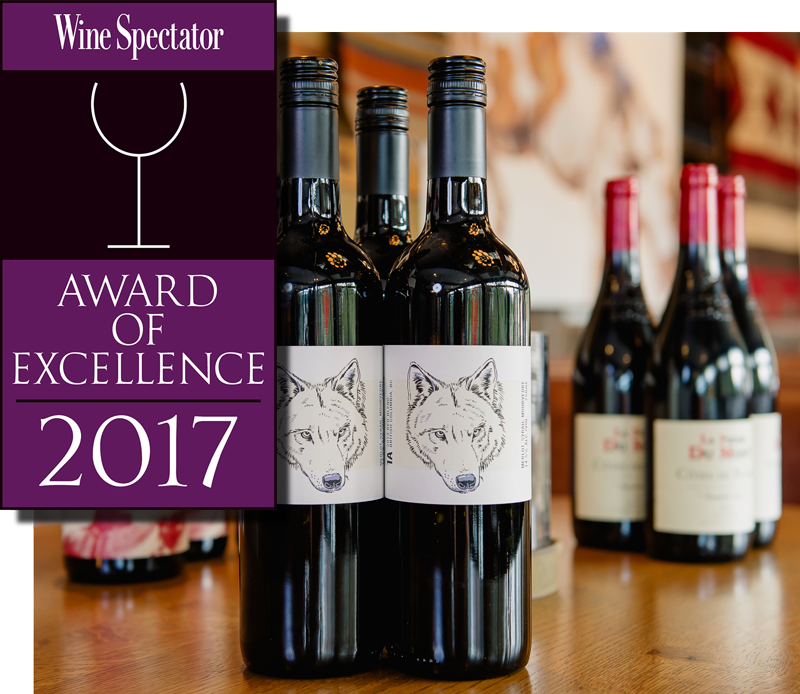Chuck's Steakhouse is the proud recipient of the 2017 Wine Spectator Award of Excellence -