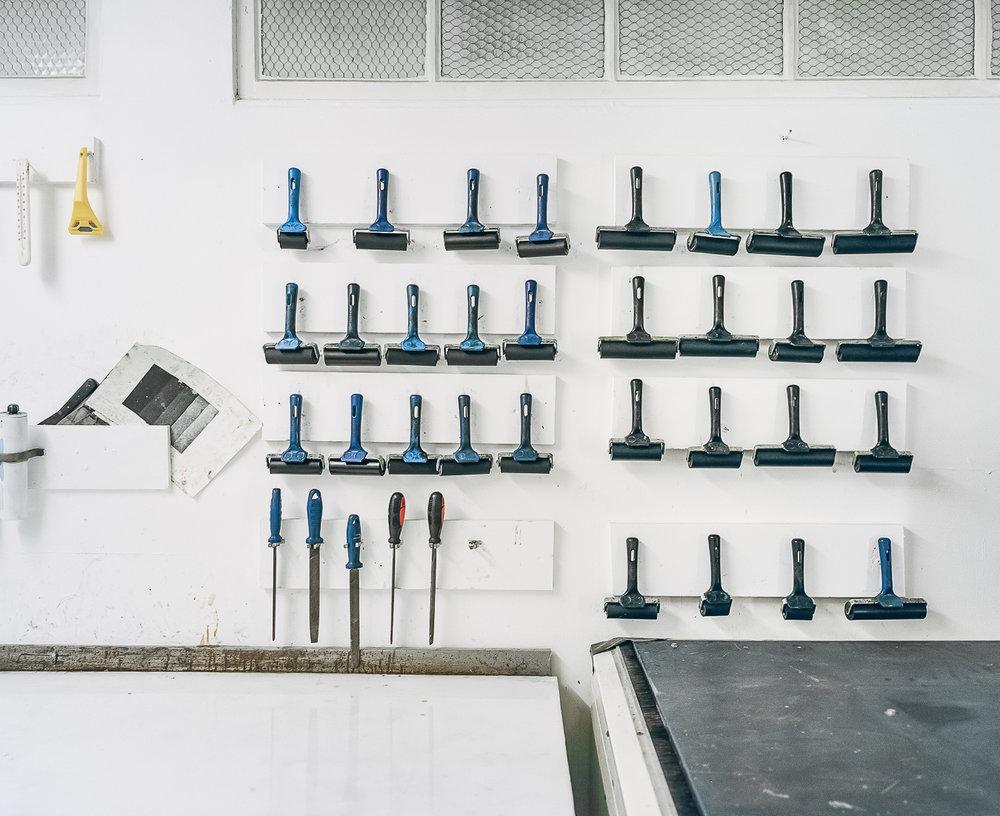 Theodore Ereira-Guyer's Print Studio