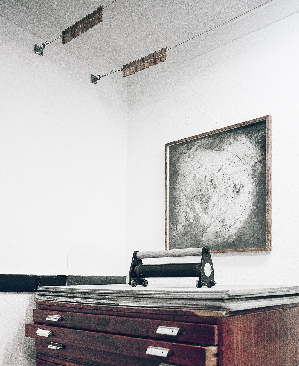 Theodore Ereira-Guyer's Prints Display On The Wall
