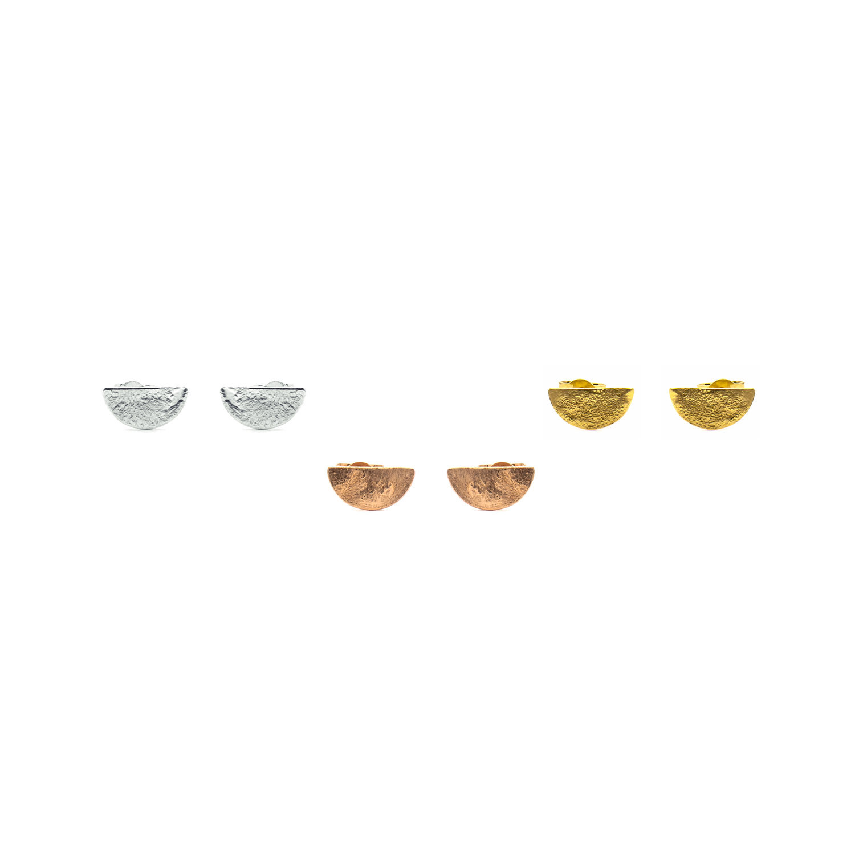 dc1babb21 Half Moon Stud Earrings — Contemporary Silver Jewellery Handmade in ...