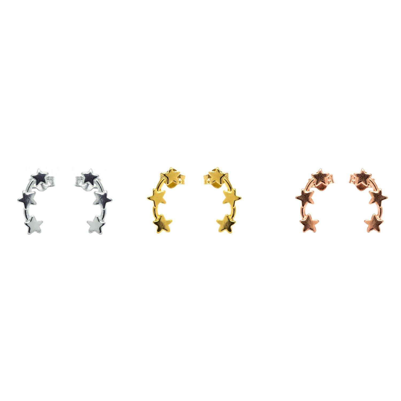 a6d9c8fa5 Triple Star Stud Ear Climbers — Contemporary Silver Jewellery ...