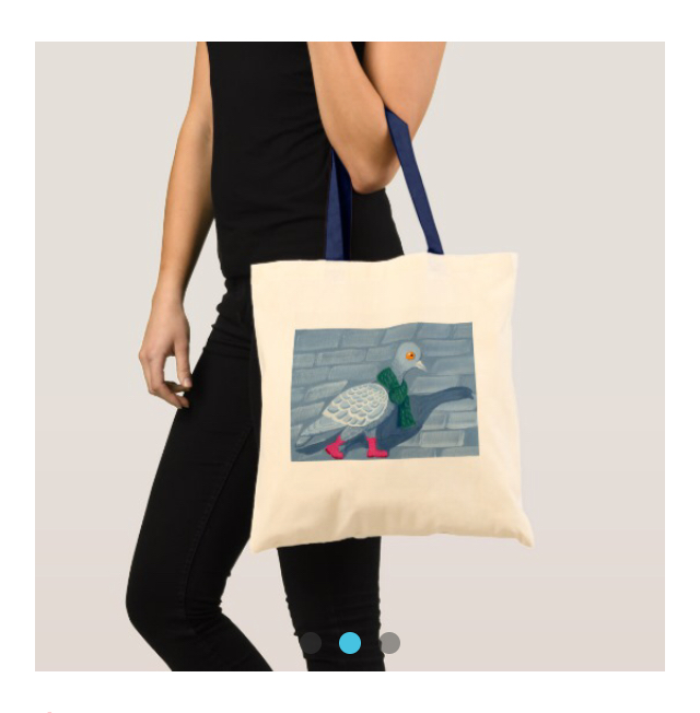 Le Pigeon - Medium Tote Bag   $30