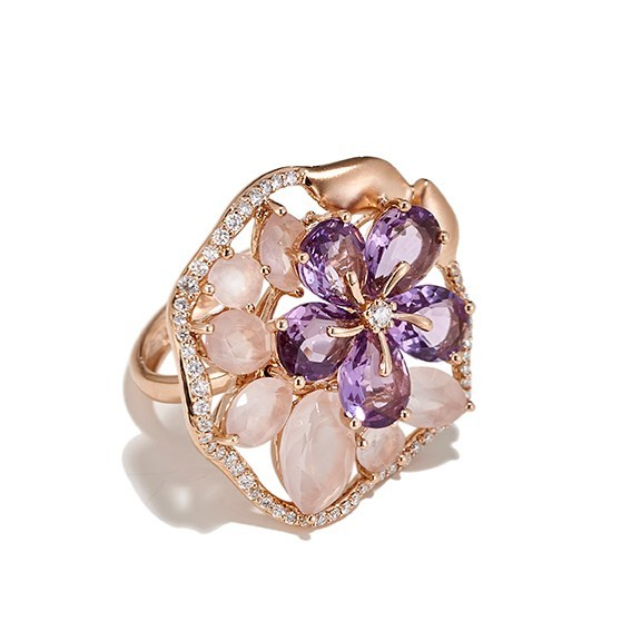 A symphony in diamonds, amethyst and rose quartz #PRwoman #PRsignature #nomondaybues