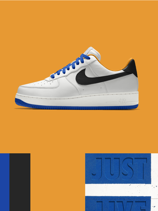 Nike Air Force 1 Low Essential: Just Live $135.00