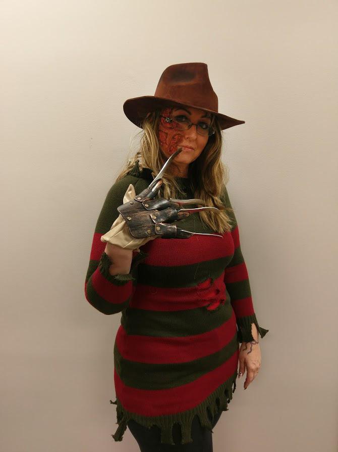 April as Freddy Krueger