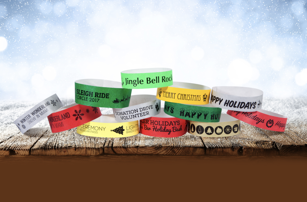 Custom 1 Color Tyvek Event Wristbands