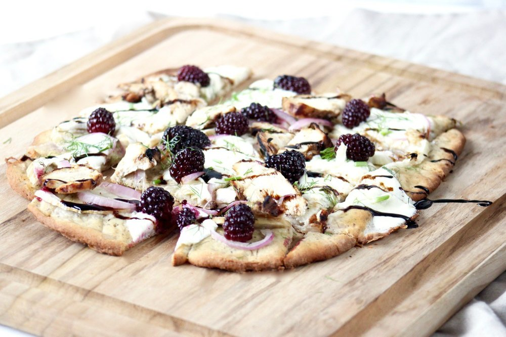 Blackberry Chicken Flatbread