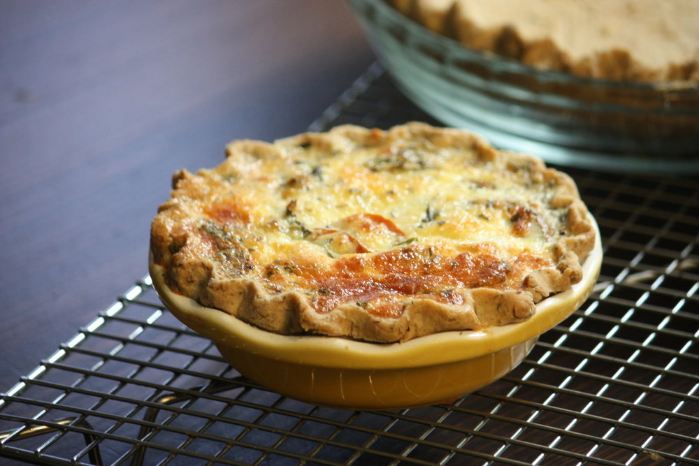 Summer Tomato Basil Pie