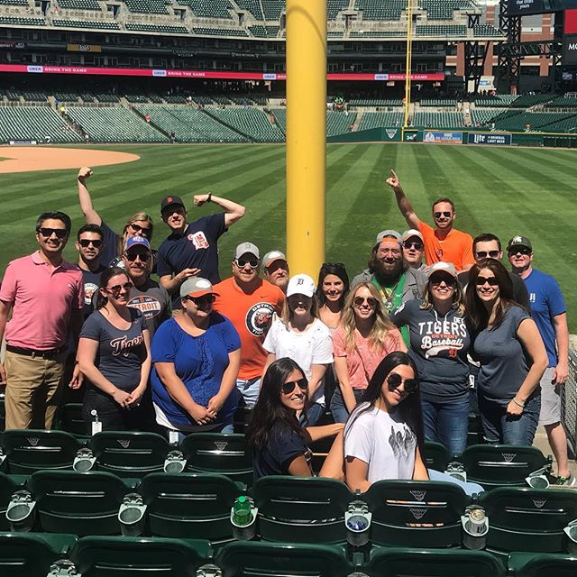 It's always a good day to be a Tigers fan! We broke free from the office today to spend a little quality time rooting for our home team! #detroittigers #eatemuptigers #rallygoose #takeusouttotheballgame