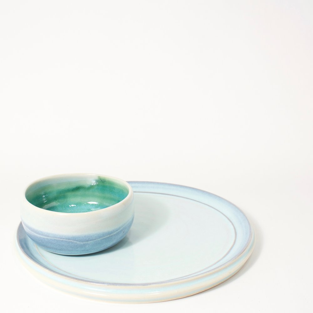 Dip Bowl and Plate Set, 2017