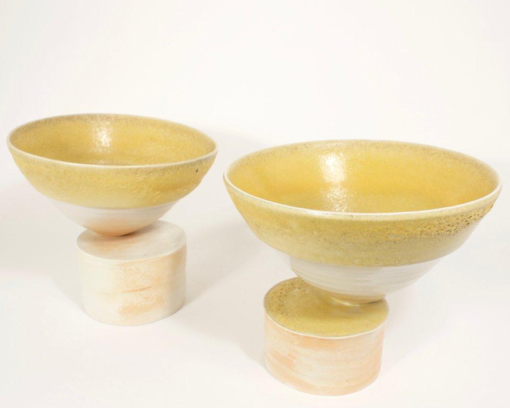 Salt fired Pedestal Bowls, 2004