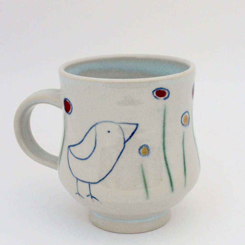 Bird and Flowers Mug, 2017