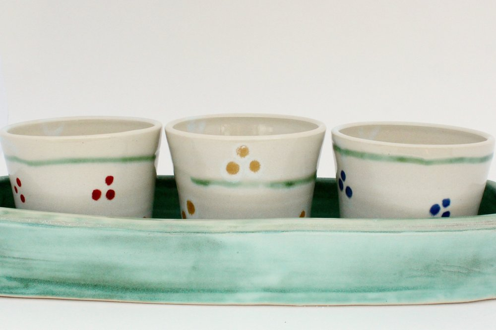 Flower Pot Trio and Tray, 2017