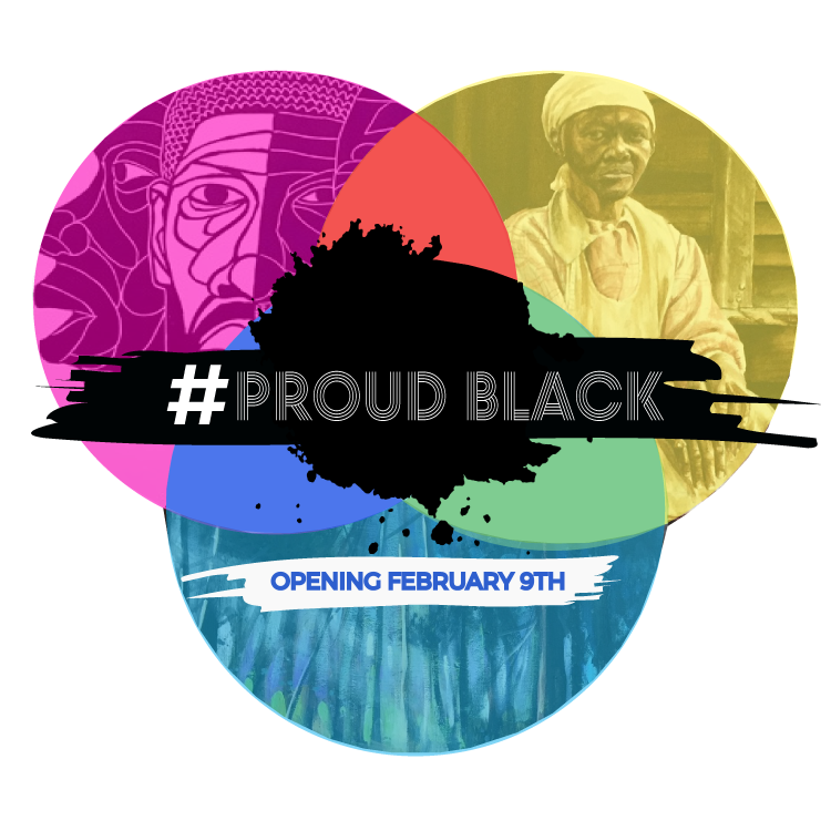 #PROUDBLACK - This exhibition demonstrates our ability to turn our pain into power through the unapologetic assertion of our joy, determination, and above all else – our right to exist as beautifully multifaceted humans in a world increasingly connected through social media. For many years, artists have used their talents to capture political, social, and historical aspects of the culture of Black people.Through social media movements such as, #blackgirlmagic, #melaninpoppin, #blacklove, #blackboyjoy, and #blackowned, Black people have ignited a revolution of self-love and worth. #PROUDBLACK pays homage to the history of Black people in America and to current social media movements focused on creating, proliferating, and uplifting self-affirming images of Black people, for Black.