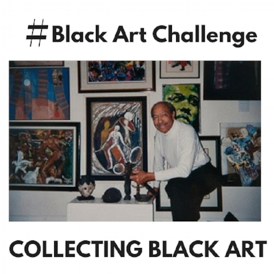 Image from #BlackArtChallenge post featuring renowned art collector Paul R. Jones