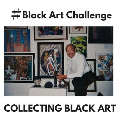 Image from #BlackArtChallenge post featuring renowned art collector Paul R. Jones