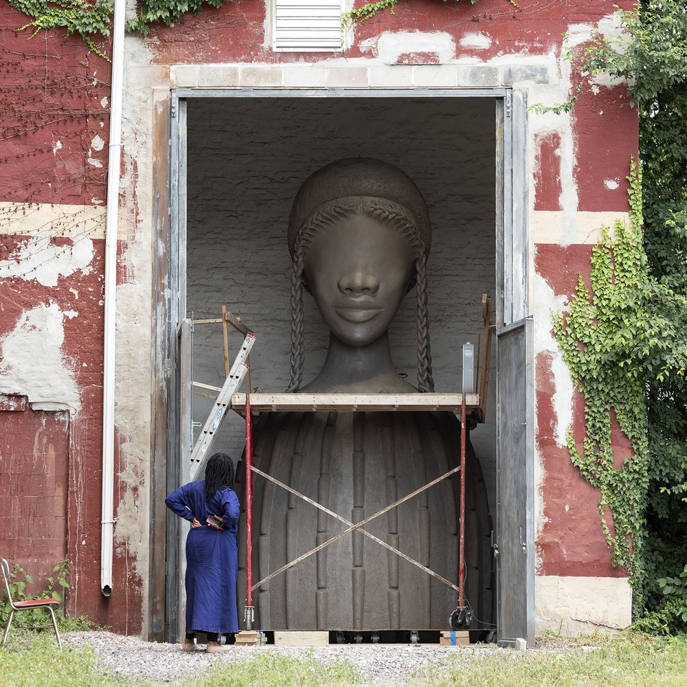 Artist Simone Leigh reviews her sculpture,  Brick House  (Courtesy the  High Line )