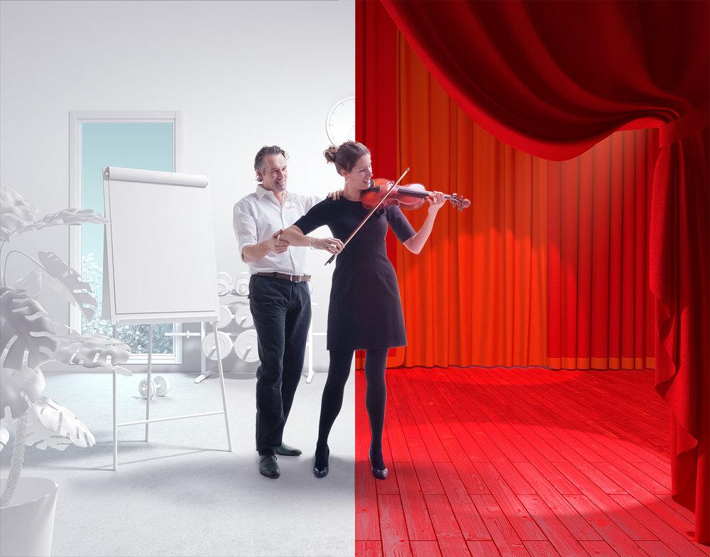 OCA concept photography violin