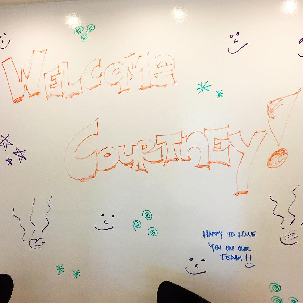 Welcome Courtney wall write.JPG