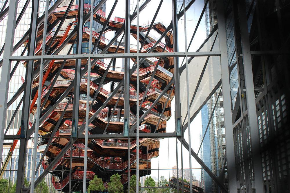 Hudson Yards Walking Sculpture