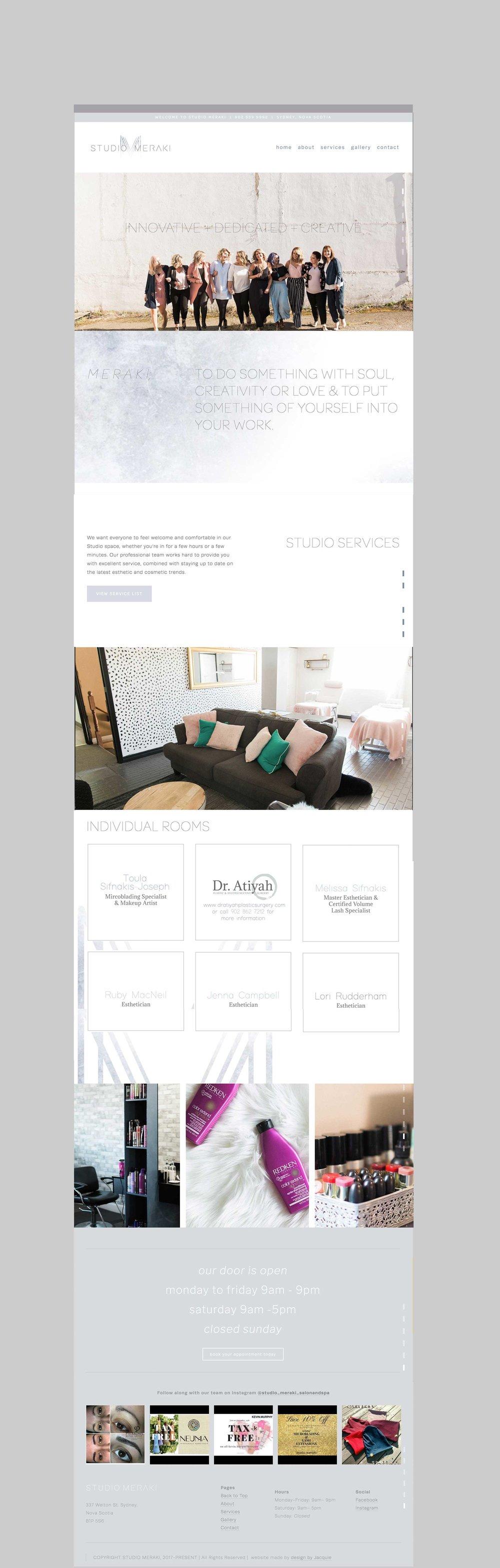 Homepage of studiomerakisalonandspa.com