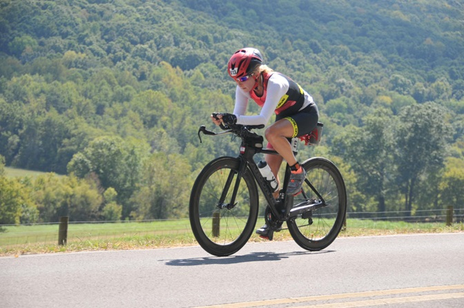 Covered up with an SPF 50+ top during Ironman Chattanooga 2016 where temps soared to over 100 degrees!