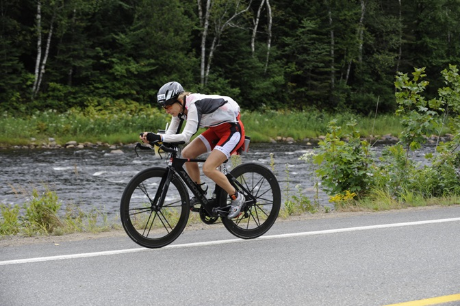 Thank goodness for my collapsible rain jacket during Ironman Mont Tremblant 2014