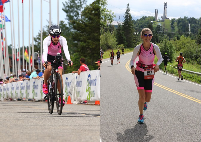 Rocking some Pearl Izumi Tri-fly Carbon Velcro strap bike shoes and speed laces at Ironman Lake Placid 2017