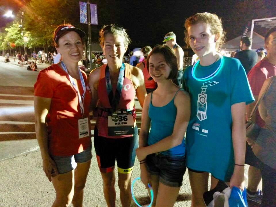 Me and my favorite volunteers who helped me out during both Ironman Chattanooga 2016 and 2017!