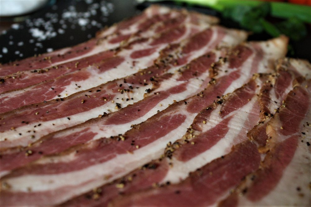 R Family Farms Berkshire Bacon, Perfectly Marbled
