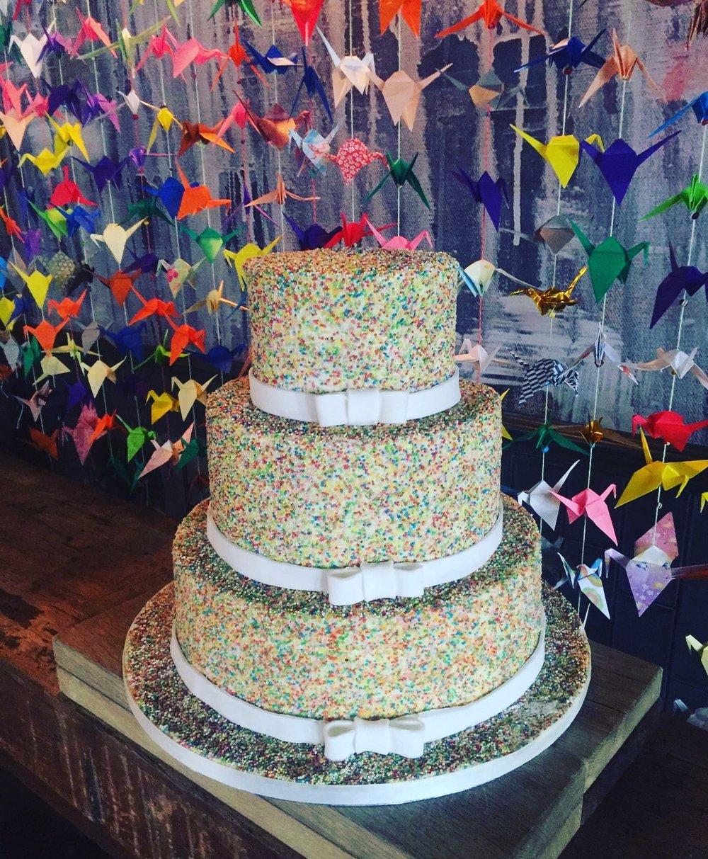 The confetti cake - a colourful and fun buttercream cake