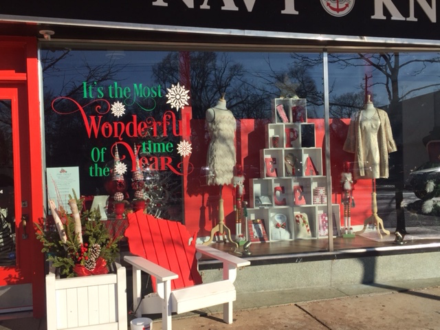 A festive and fun window display