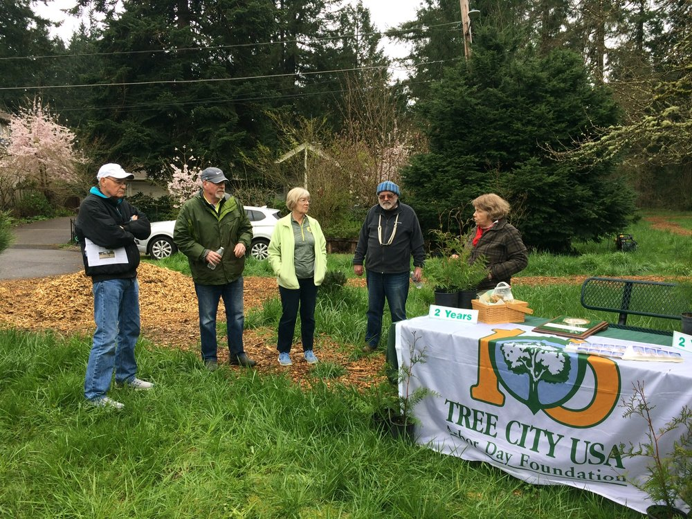 Residents Gather in Heritage Park for the annual Arbor Month Celebration and to mark Rivergrove's second year as a Tree City USA.