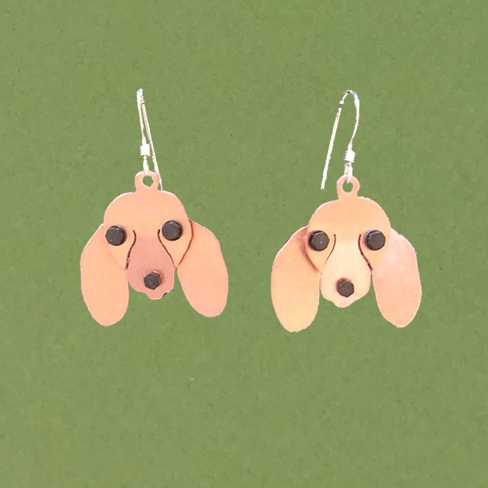 175e272b8 Dachshund Earrings, Red, Smooth