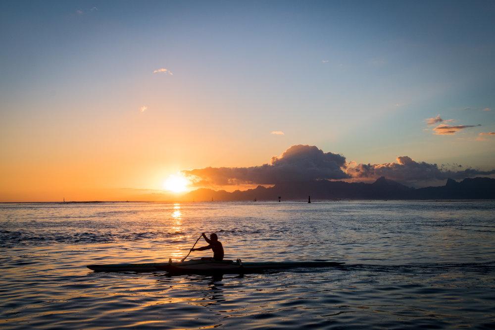 Sunset on Tahiti