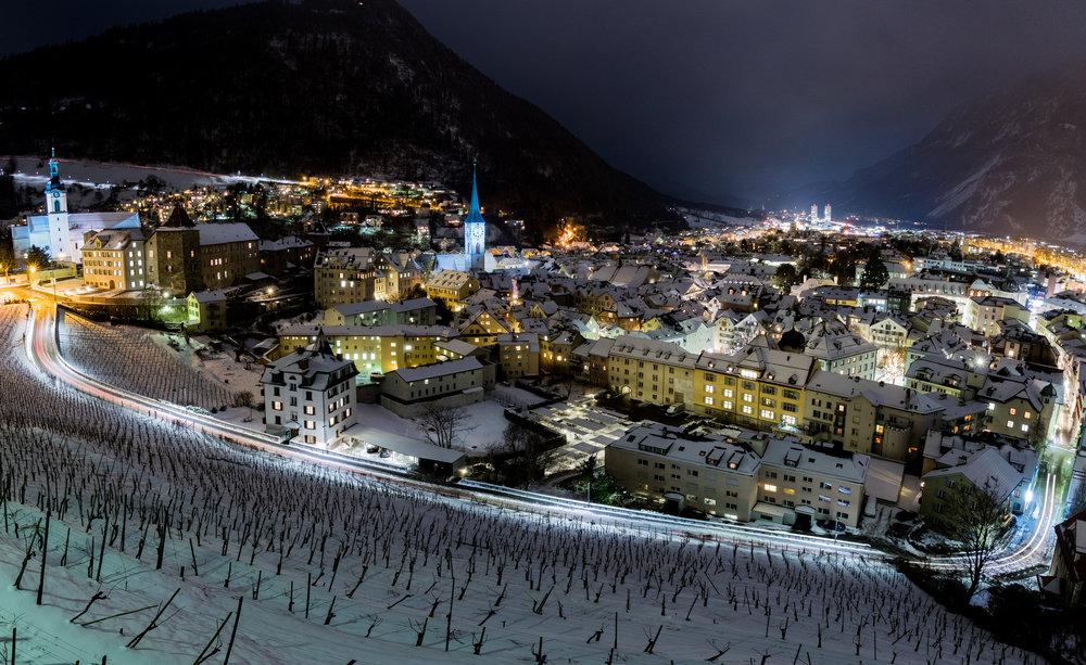 Winternacht in Chur