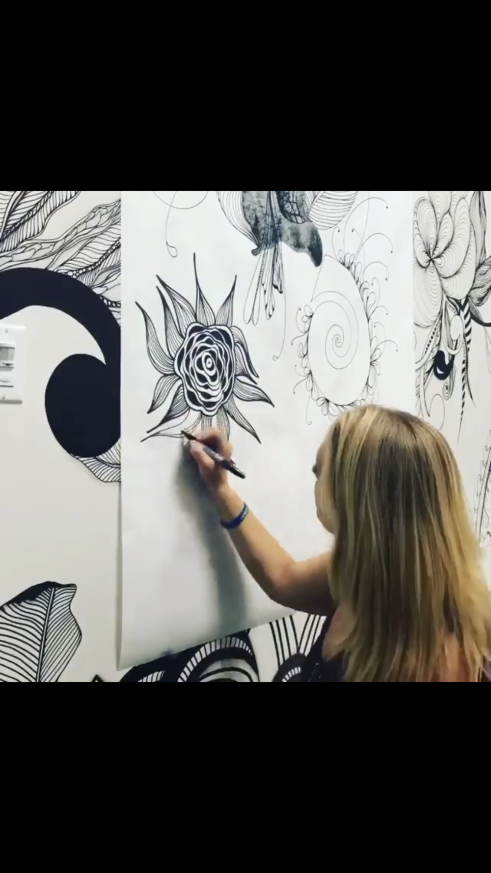 Each artwork is unplanned and     unique.