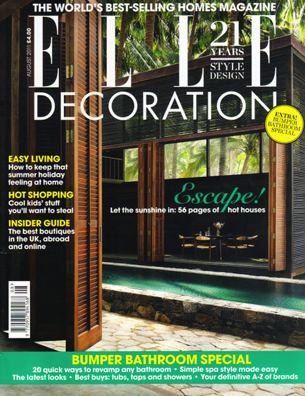 Elle Decor Uk August 2011 COVER.png